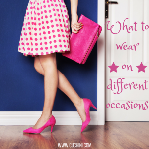 kinds of clothes for different occasions