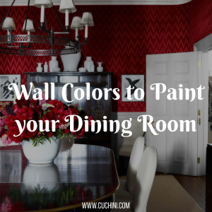 Wall Colors to Paint your Dining Room