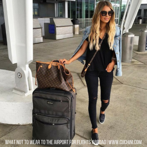 What Not To Wear to the Airport For Flights Abroad