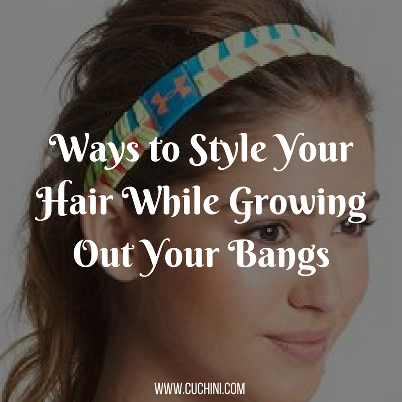 how to style hair as it grows out cuchini cuchini lifestyle 9527 | main image Ways to Style Your Hair While Growing Out Your Bangs